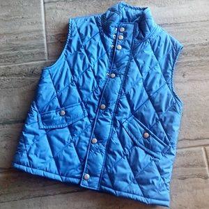 Kids' Brooks Brothers Fleece Blue Puffer Vest